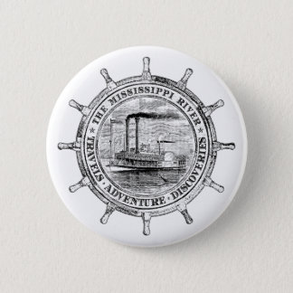 Mississippi River. Travels. Adventure. Discoveries 2 Inch Round Button