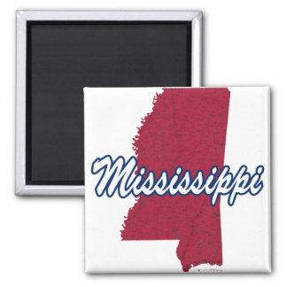 Mississippi Square Magnet