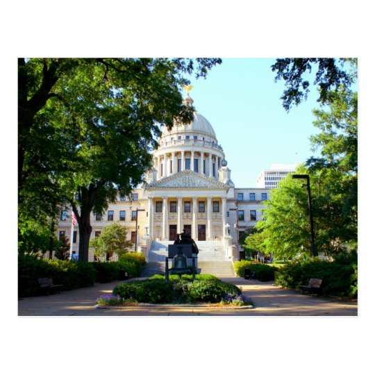 Mississippi State Capitol Building - Jackson, MS Postcard