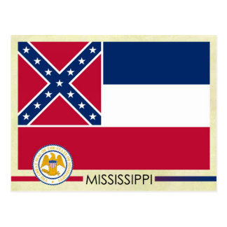 Mississippi State Flag and Seal Postcard
