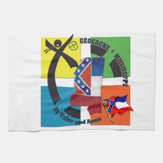 MISSISSIPPI STATE MOTTO GEOCACHER KITCHEN TOWEL