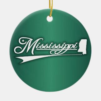 Mississippi State of Mine Ceramic Ornament