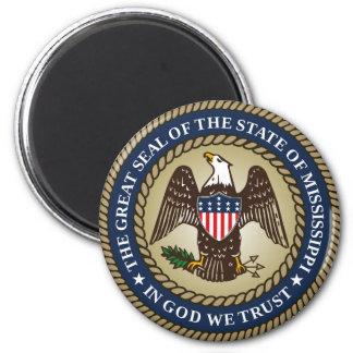 Mississippi state seal america republic symbol fla 2 inch round magnet