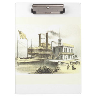 Mississippi Steamboat City of Memphis, 1860 Clipboard