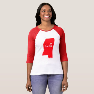 Mississippi Teacher Tshirt (Red)
