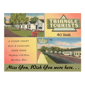 Mississippi, Triangle Tourists, Meridian Postcard