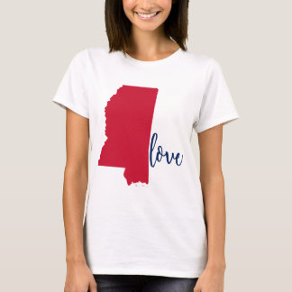 Mississippi University Love Tee Red and Navy