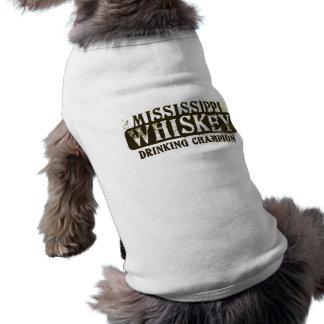 Mississippi Whiskey Drinking Champion Dog T Shirt