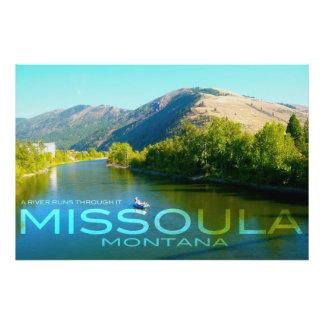 Missoula, Montana - A River Runs Through It Photo Print