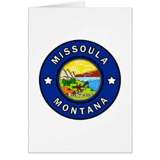 Missoula Montana Card