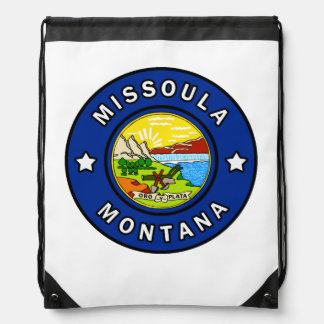 Missoula Montana Drawstring Bag
