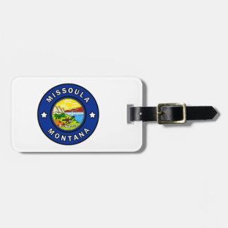 Missoula Montana Luggage Tag