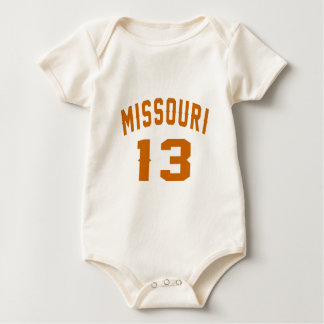 Missouri 13 Birthday Designs Baby Bodysuit