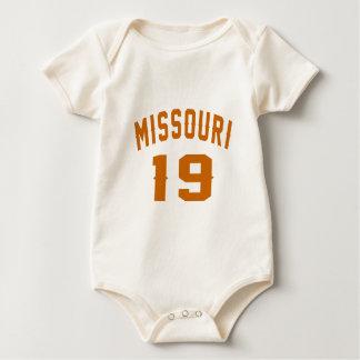 Missouri 19 Birthday Designs Baby Bodysuit