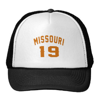 Missouri 19 Birthday Designs Trucker Hat