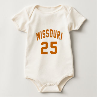 Missouri 25 Birthday Designs Baby Bodysuit