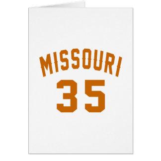Missouri 35 Birthday Designs Card