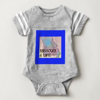"""Missouri 4 Life"" State Map Pride Design Baby Bodysuit"