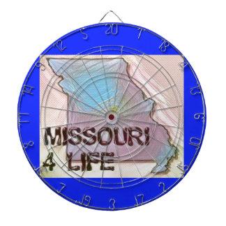 """Missouri 4 Life"" State Map Pride Design Dartboard"