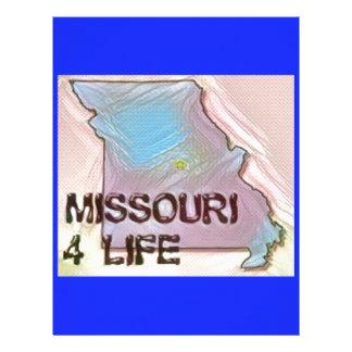 """Missouri 4 Life"" State Map Pride Design Letterhead Template"