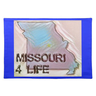 """Missouri 4 Life"" State Map Pride Design Placemat"