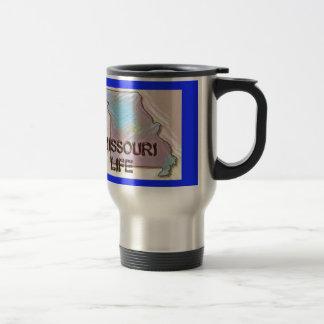 """""""Missouri 4 Life"""" State Map Pride Design Travel Mug"""
