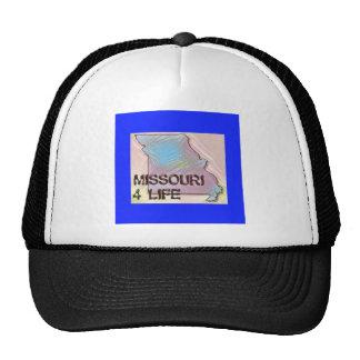 """Missouri 4 Life"" State Map Pride Design Trucker Hat"