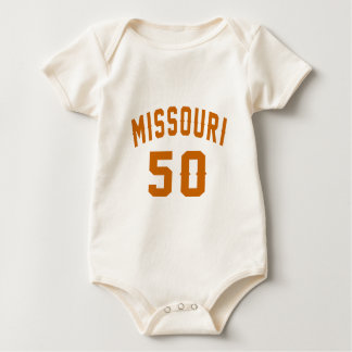 Missouri 50 Birthday Designs Baby Bodysuit