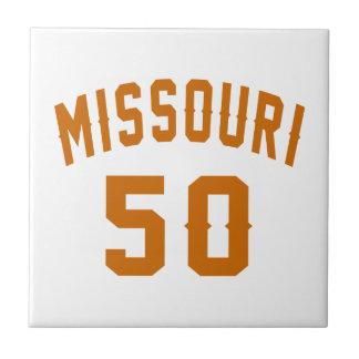 Missouri 50 Birthday Designs Ceramic Tile