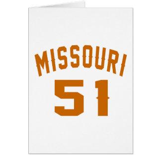 Missouri 51 Birthday Designs Card