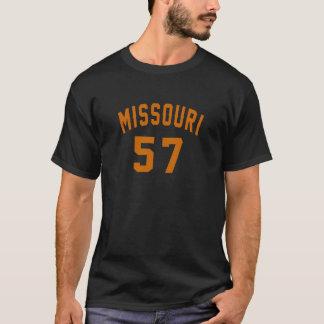 Missouri 57 Birthday Designs T-Shirt