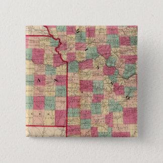 Missouri and Kansas 2 Inch Square Button