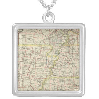 Missouri, Arkansas, Kentucky, Tennessee Silver Plated Necklace