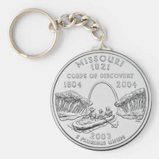 Missouri Basic Round Button Keychain