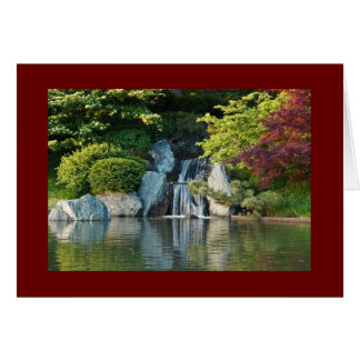 Missouri Botanical Garden Water Fall Card