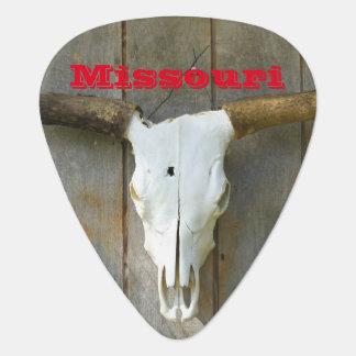 Missouri Bull Skull Guitar PICK