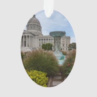 Missouri Capitol And Fountain Ornament