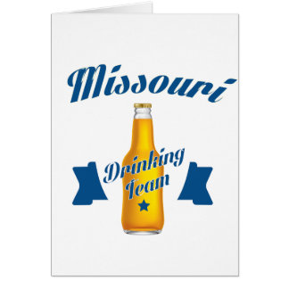 Missouri Drinking team Card