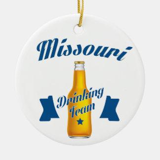 Missouri Drinking team Round Ceramic Ornament