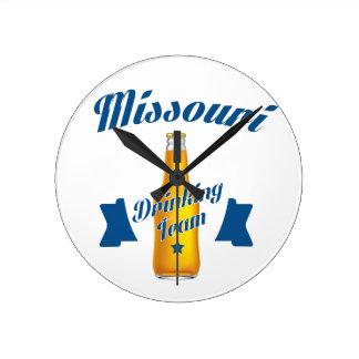 Missouri Drinking team Round Clock