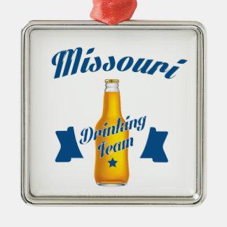 Missouri Drinking team Silver-Colored Square Ornament