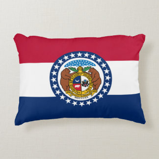 Missouri Flag Accent Pillow