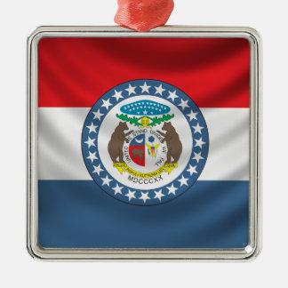 Missouri Flag Metal Ornament