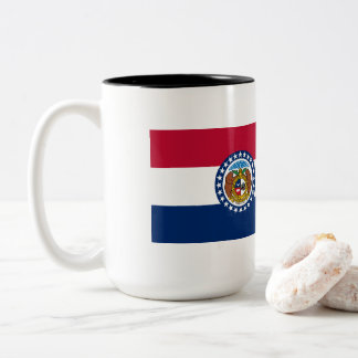 Missouri Flag Two-Tone Coffee Mug