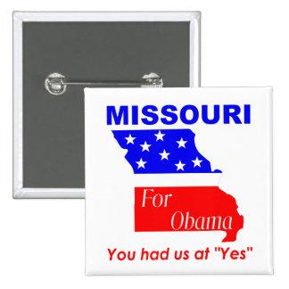 Missouri for Obama 2 Inch Square Button