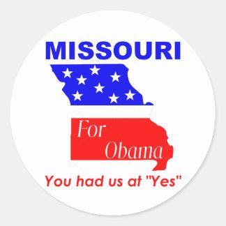 Missouri for Obama Round Sticker