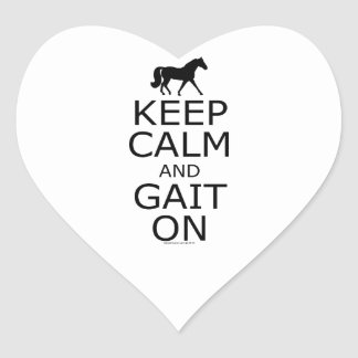Missouri Fox Trotter Keep Calm Gait On Heart Sticker