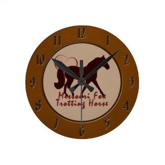 Missouri Fox Trotting Horse Hearts Round Clock