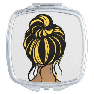 Missouri Girl Black and Yellow Compact Mirror