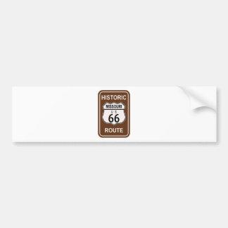 Missouri Historic Route 66 Bumper Sticker